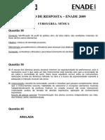 Enade 2009 (Pradrão de resposta Música).pdf