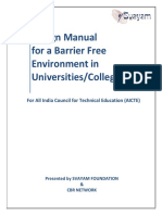 University College Accessibility India Design Manual Svayam AICTE Guidelines Modified