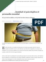 Alerta Por La Obesidad en Argentina