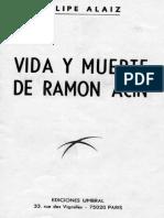Alaiz, Felipe - Vida y Muerte de Ramón Acín Cofadría