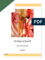 Perfumery Art School Brochure