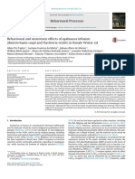 Behavioural and Neurotoxic Effects of Ayahuasca Infusion (Banisteriopsis Caapi and Psychotria Viridis) in Female Wistar Rat