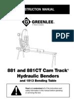 881 881CT Hydraulic Bender