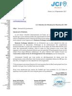 Lettre Sponsoring BEI XXXXXX Rabat-CIH
