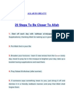 25 Steps to Be Closer to Allah