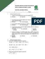 Examen de Recuperacion de Matematicas i Segundo Parcial