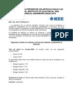 Formato Para Presentar Un Artículo Ieee