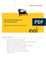 Awareness Session on Confined Space