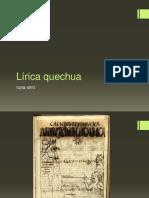 Lírica quechua