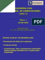Clase 01 de Ingeniería de Cimentaciones - Concreto Armado II