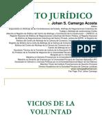 JOHAN CAMARGO ACOSTA - Vicios de La Voluntad en el Acto Jurídico