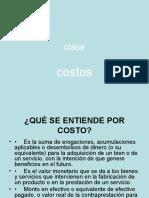 3ra Clase COSTOS