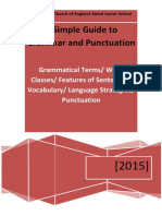 Glossary of Grammar and Punctuation Terms - Nettleham Junior 2015