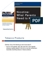 Nicotine, What Parents Need to Know