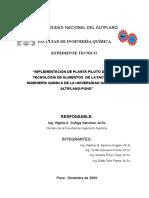 Expediente Tecnico-Planta Piloto