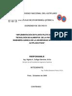 Expediente Tecnico-Planta Piloto FIQ UNA PUNO