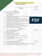 158Physics Paper I