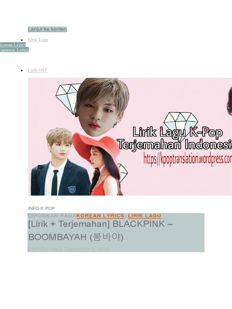 Blackpink Boombayah Lyrics Korean