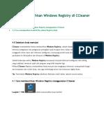 4.Cara Membersihkan Windows Registry Di CCleaner