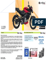 Pulsar 160 Ns Users Guide