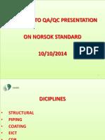 NORSOK QAQC Requirements