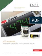 Carel Ir33 Series Electronic Controller Sales Brochure