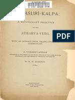 Asuri Kalpa a Witchcraft Practice of Atharva Veda