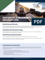 Honda Motorcycle Warranty
