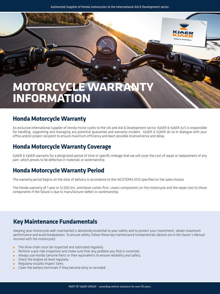 Honda Motorcycle Warranty Tire Motorcycles Information