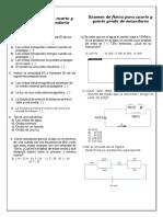 Examen de Física de 4to y 5to de Secundaria Del Dia 12 de Desiembre 2017 Bimenstral