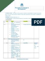 03) Procedure for Design & Development