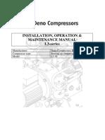 manual L3-56  15521 Deno, Deno Compressors L3-56 INSTALLATION, OPERATION & MAINTENANCE MANUAL L3-series