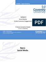 M33MKT - Lecture 3 - Social Media and Online Customer Engagement