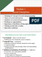 Module 1 Social Enterprises