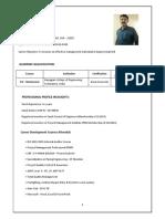 Mechanical Engineer Resume-Saran Erikandath
