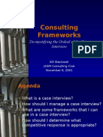 Consulting Frameworks- Bill Blackwell