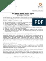 Press Release Sun Pharma Q1 FY17 Financial Result