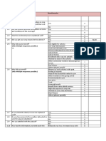 Assignment Questionnaire