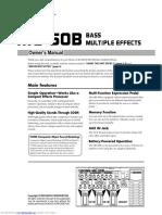 Boss ME 50B Manual