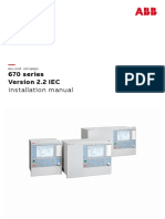 1MRK514026-UEN B en Installation Manual 670 Series Version 2.2 IEC