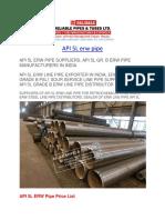 API 5L erw pipe
