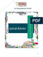 Aptitude Refresher - The Booklet