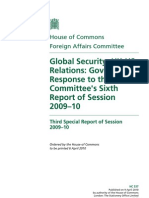 House of Commons Report on Global Security -Executive Summary