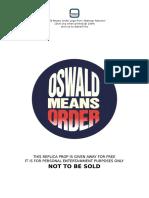 Oswald Means Order - Batman Returns