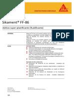 6.1. HT Sikament® FF-86 REV. 04.08.14