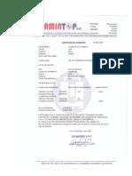 Certificado de Teodolito Sermintop
