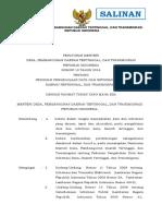 PermenDesaPDTTrans Nomor 10 Tahun 2016 Ttg Pedoman Pengelolaan Data & (Nformasi (Datin) DPDTTrans Salinan