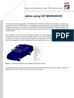 Automotive Simulation Using CST MICROWAVE STUDIO