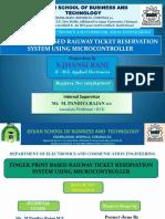 Fingerprint Based Railway Ticket System