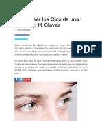 Cómo Leer Los Ojos de Una Persona